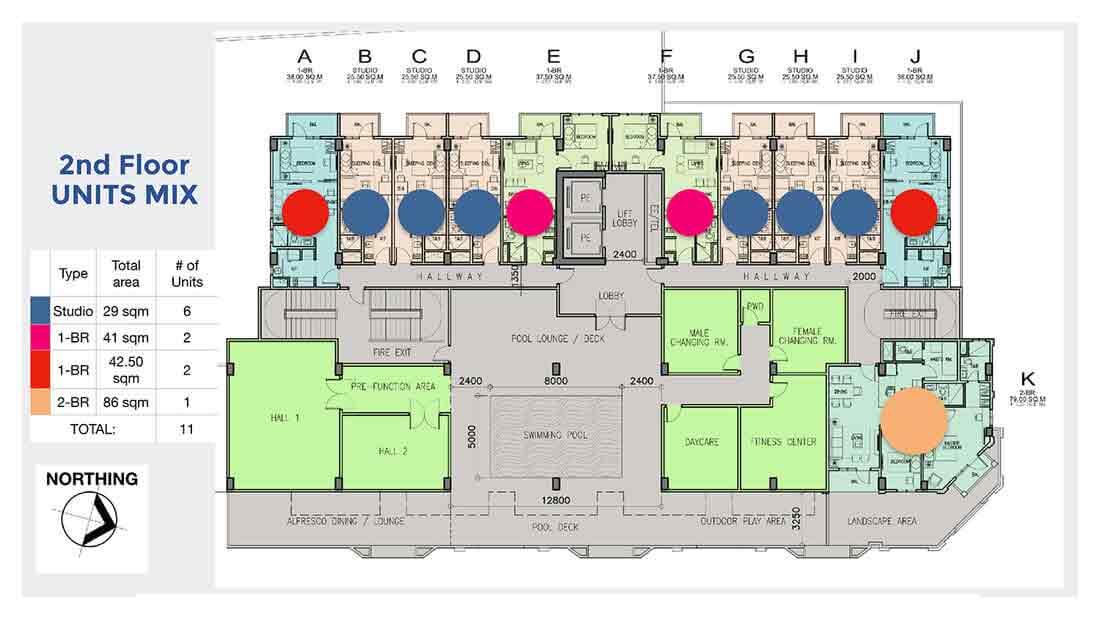 2nd Floor Units Mix