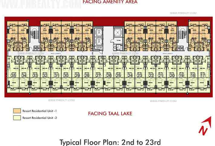 2nd - 23rd Floor