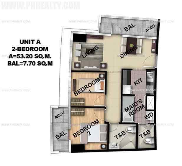 Unit A 2 Bedroom