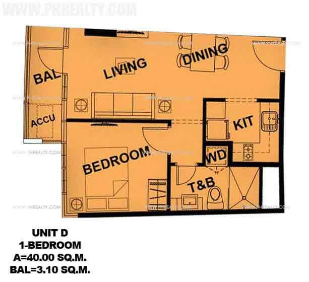 Unit D 1 Bedroom