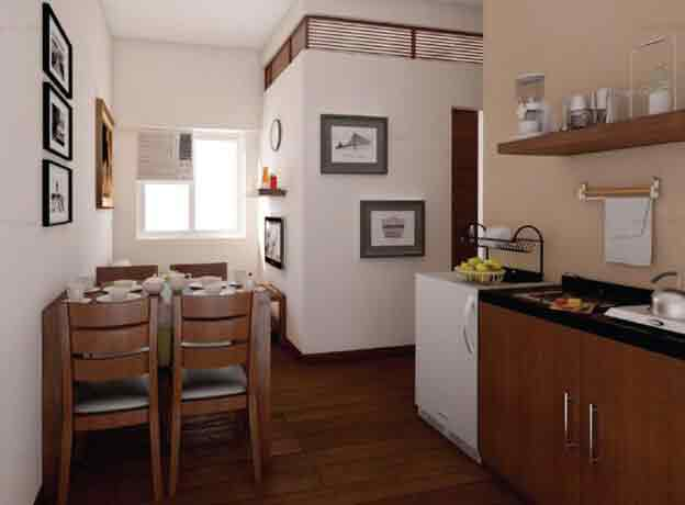 3 - Bedroom, Dining, Kitchen Area