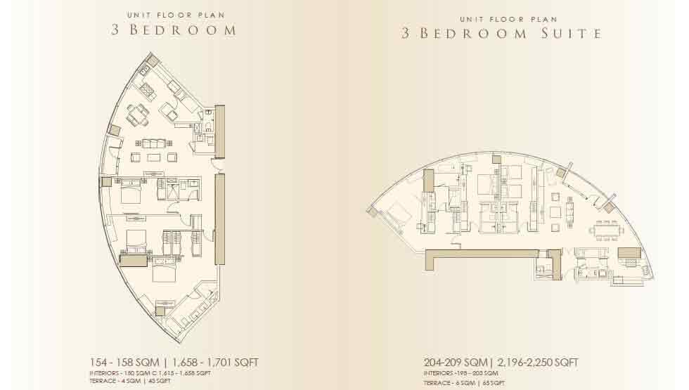 3 Bedrrom / 3 Bedrom Suite