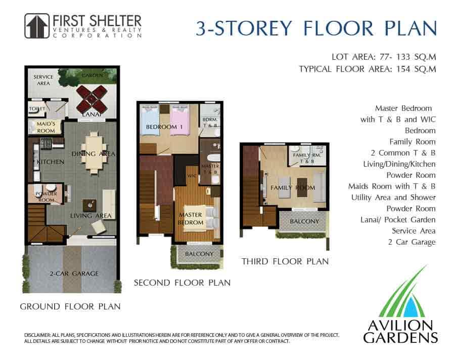 3 Storey Floor Plan