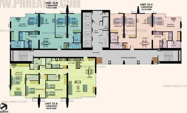 32nd - 33rd Floor Plan