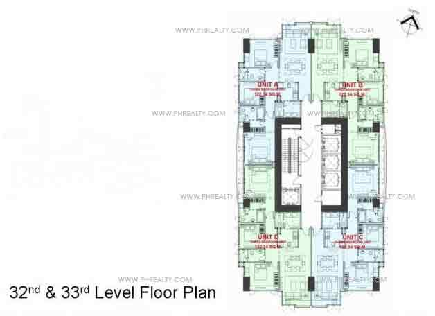 32nd & 33rd Level Floor Plan