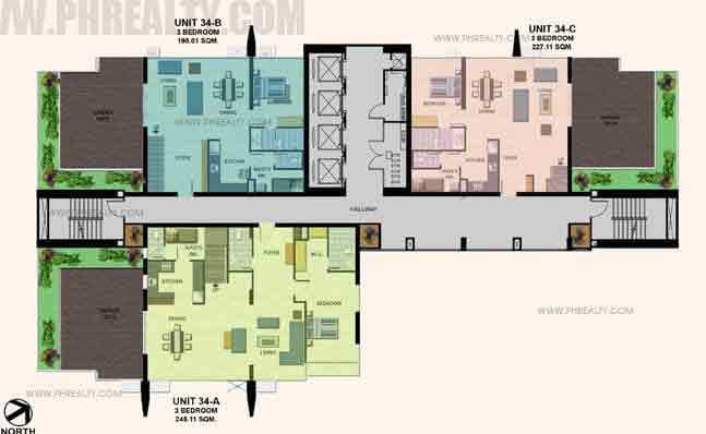 34th Floor Plan (Lower)