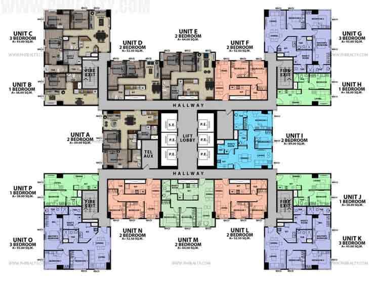 36th - 40th Floor Plan