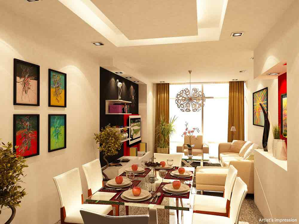 One Bedroom Living and Dining Area