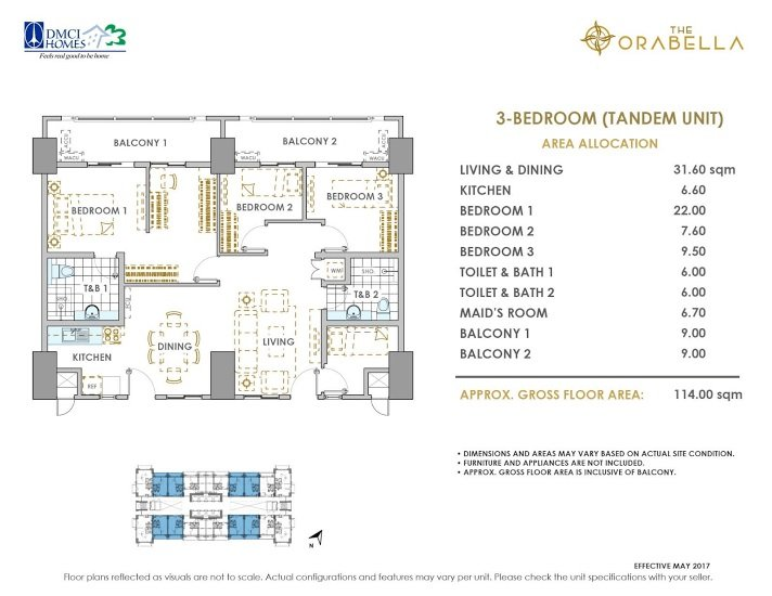 3 - Bedroom A ( Tandem Unit )