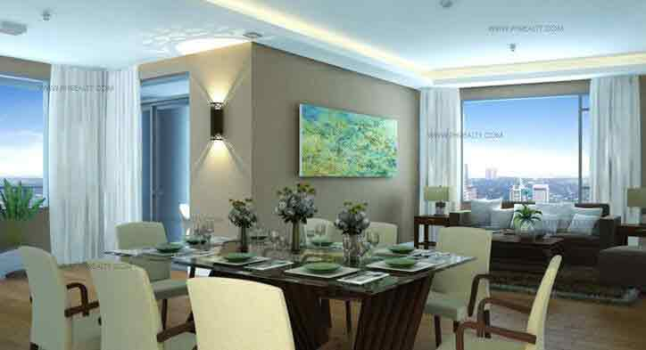 3 - Bedroom Living & Dining Areas
