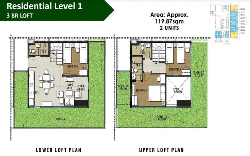 3 BR Loft