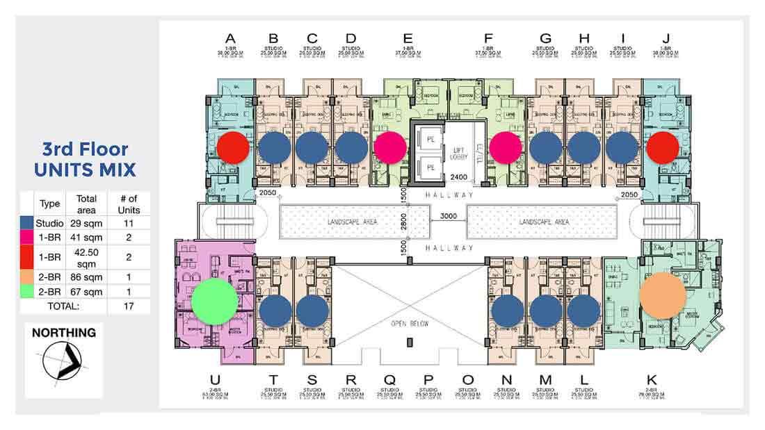 3rd Floor Units Mix
