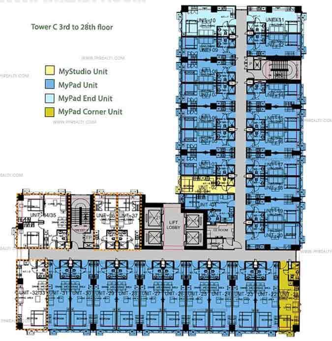 3rd - 28th Floor