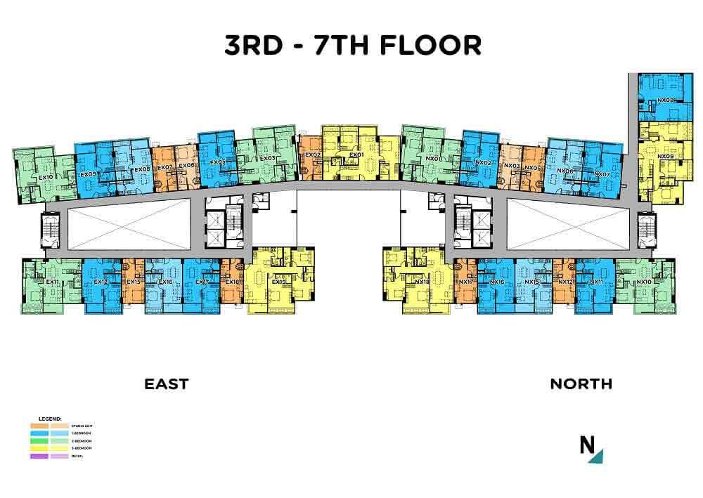 3rd - 7th Floor