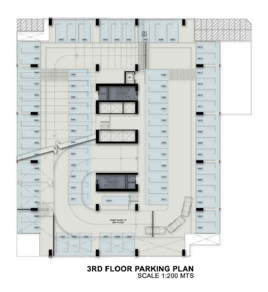 3rd Floor Parking Plan