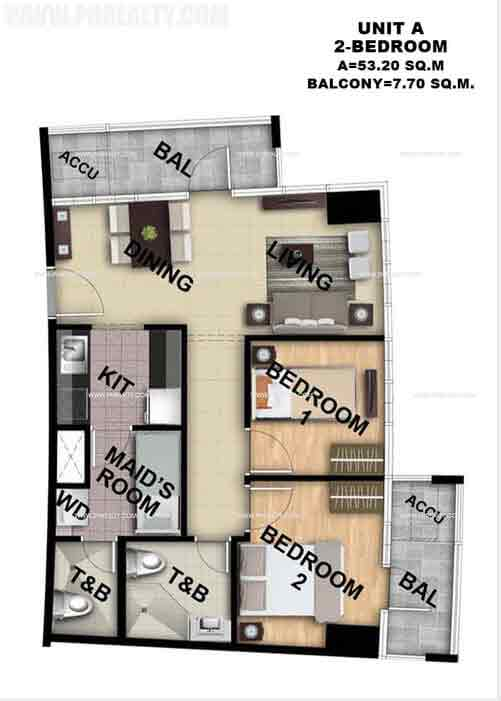 Unit A 2 Bedroom