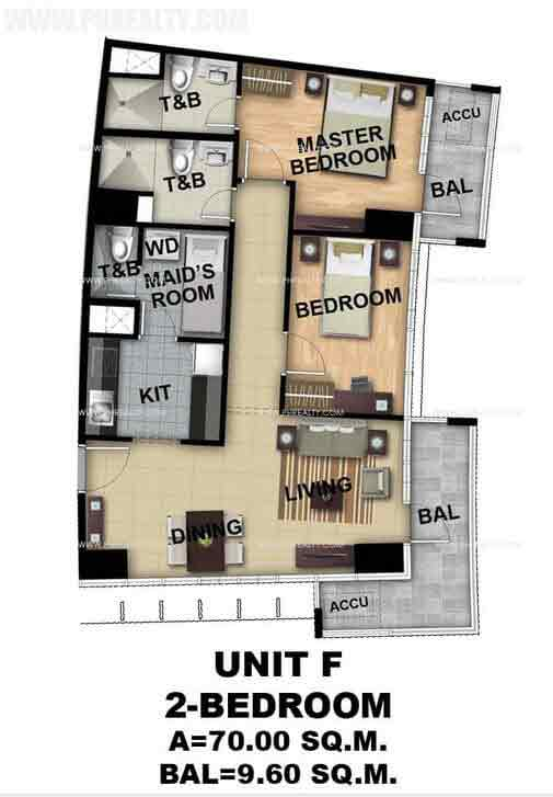 Unit F 2 Bedroom