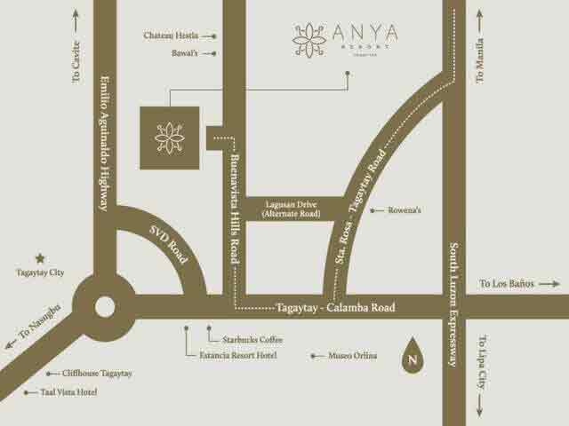 Anya Resort and Residences Location
