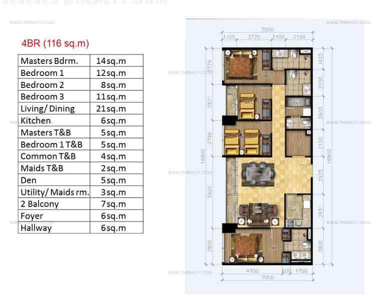 4 BR Floor Plan