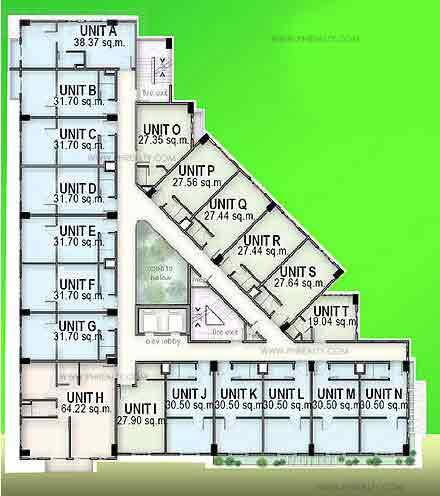 4th-8th Floor Plan