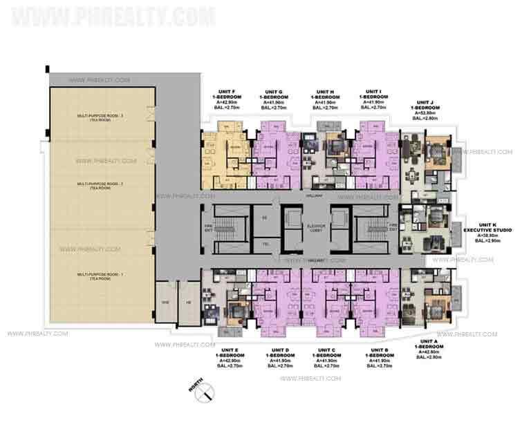 4th Floor Amenity Deck Plan