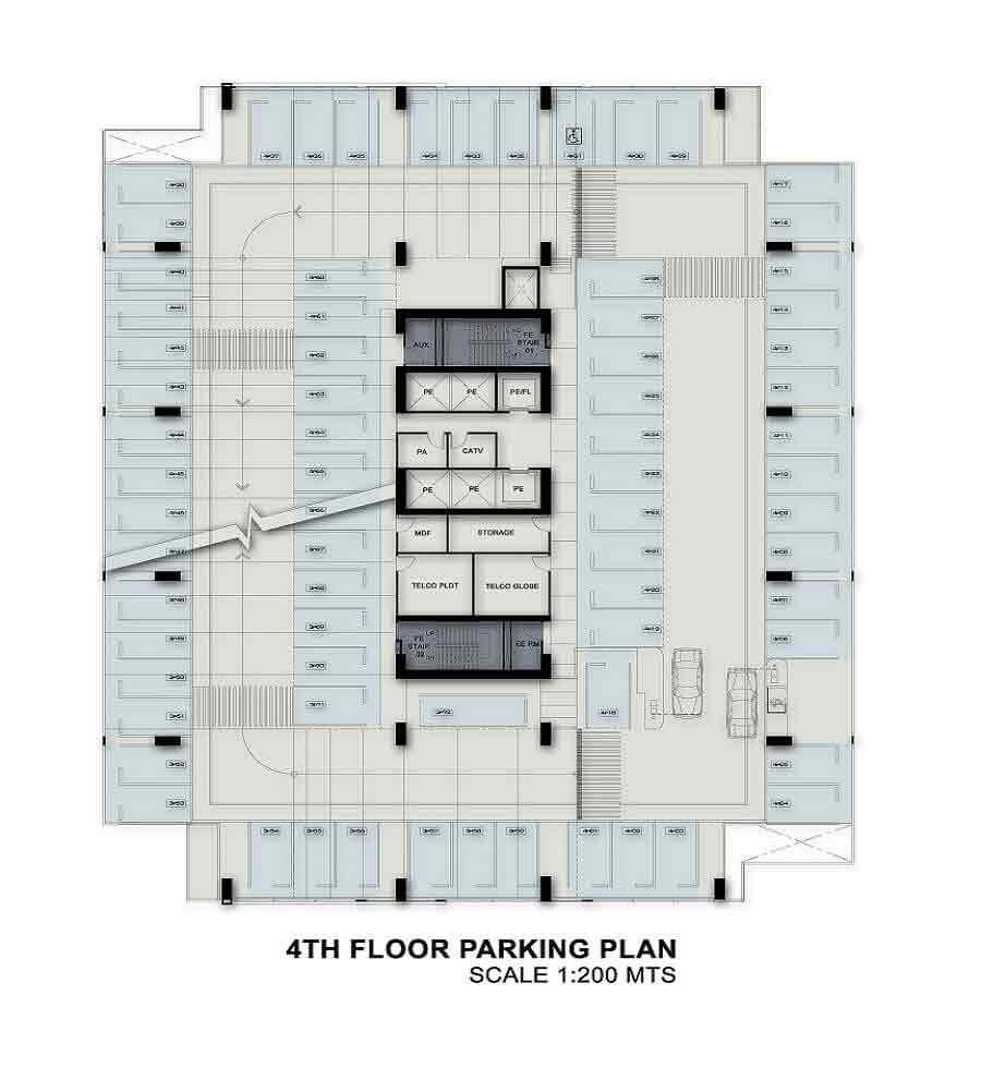 4th Floor Parking Plan