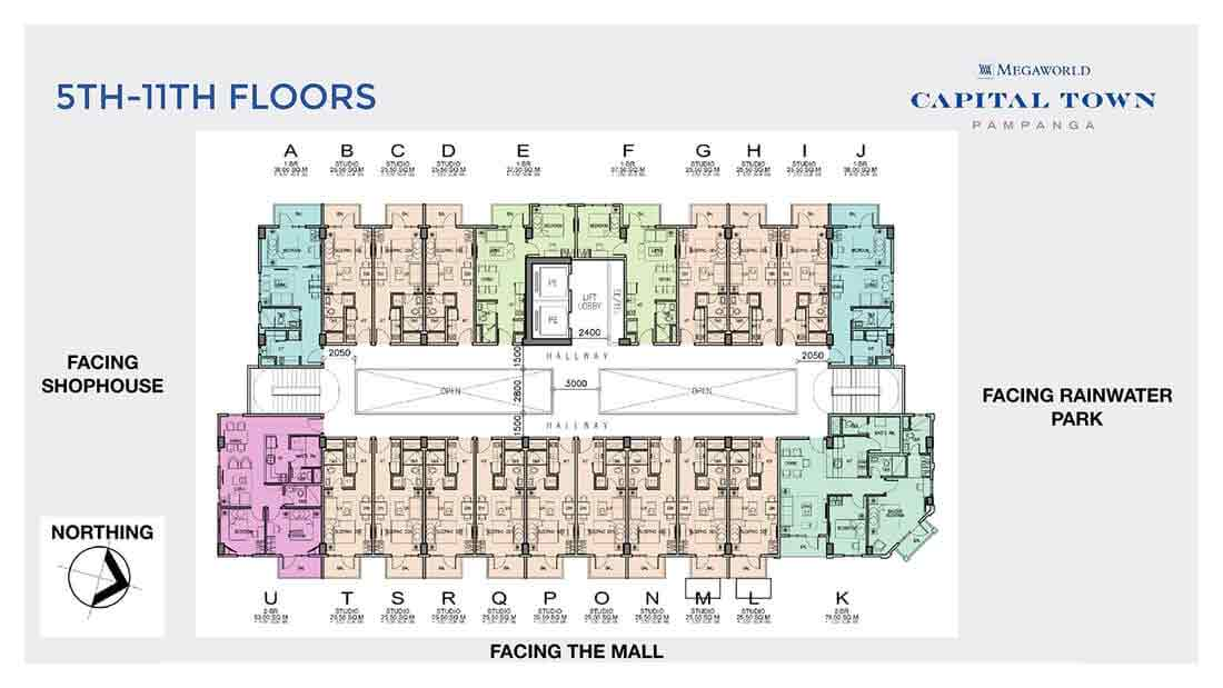 5th - 11th Floor Plan