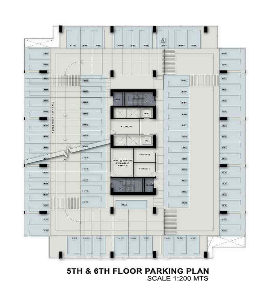 5th - 6th Floor Parking Plan