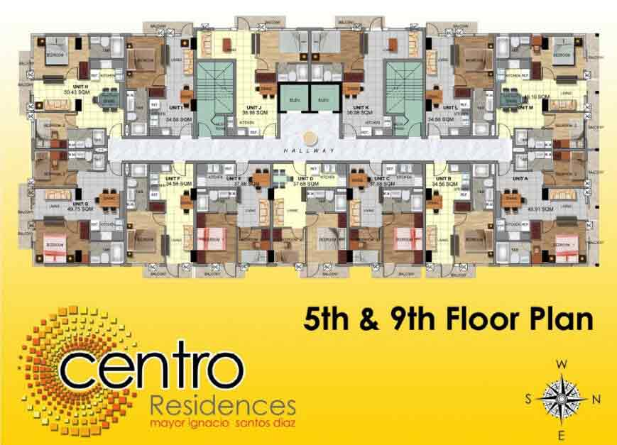 5th and 9th Floor Plan