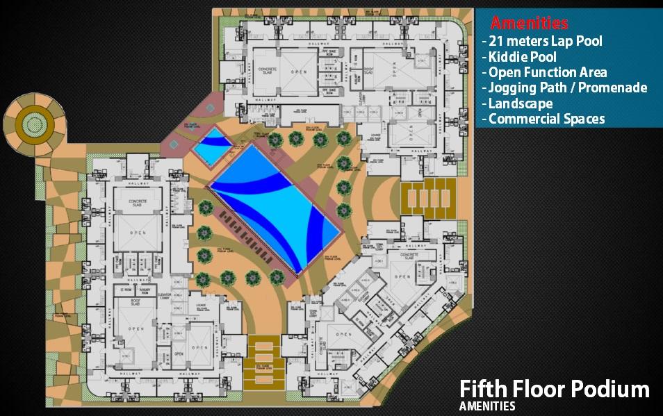 5th Floor Amenities Area