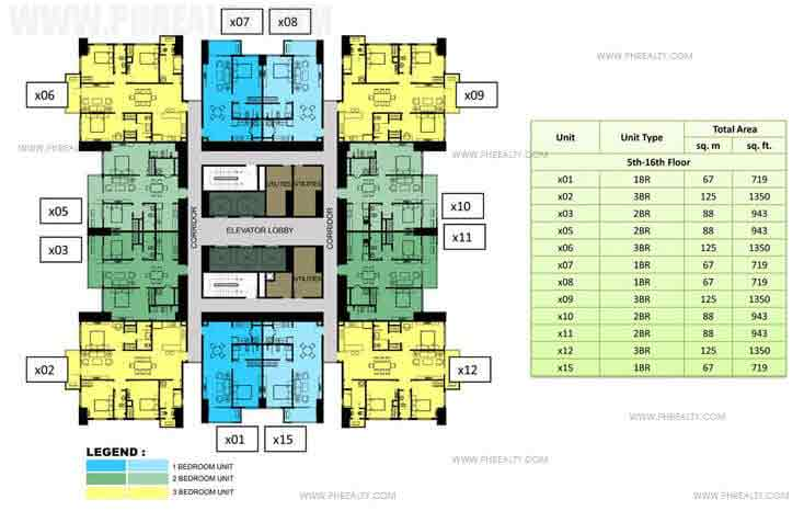 5th to 16th Floor Plan (30x30)
