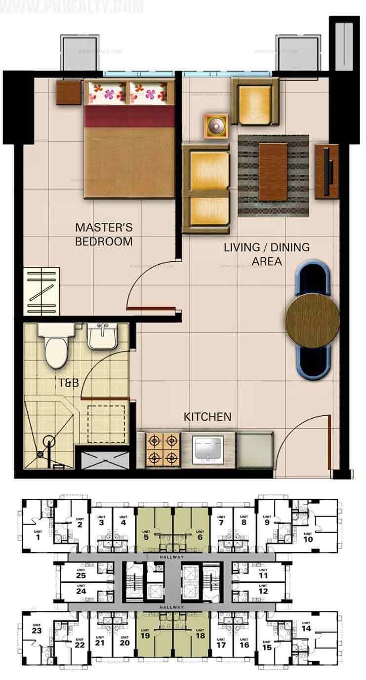 Unit Plan 1&2 1Bedroom