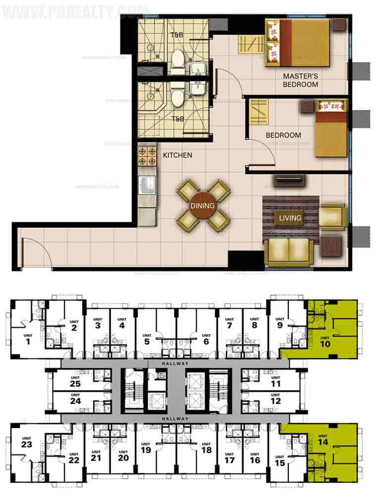 Unit Plan 1&2 2Bedroom