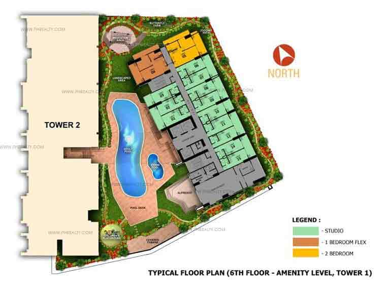 6th Floor Amenity Plan