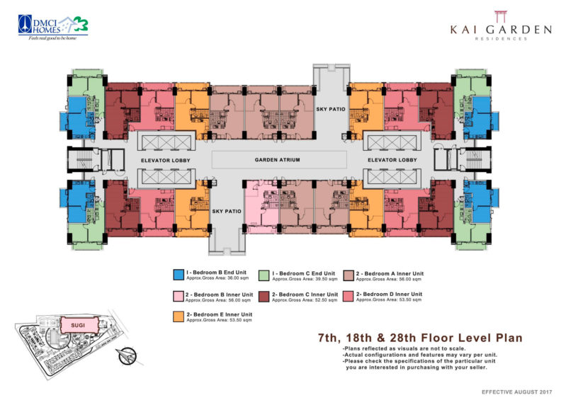 7th, 18th, & 28th Floor Plan