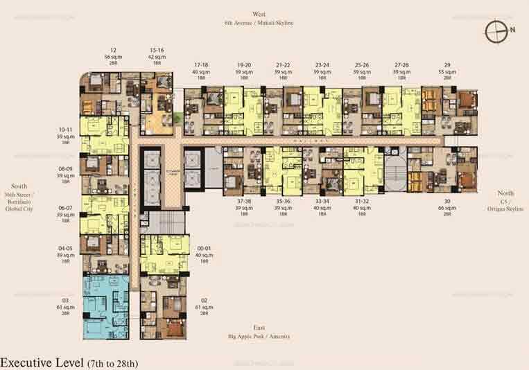 7th-28th Floor Plan