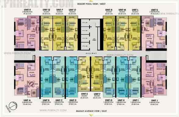 7th - 15th Floor Plan