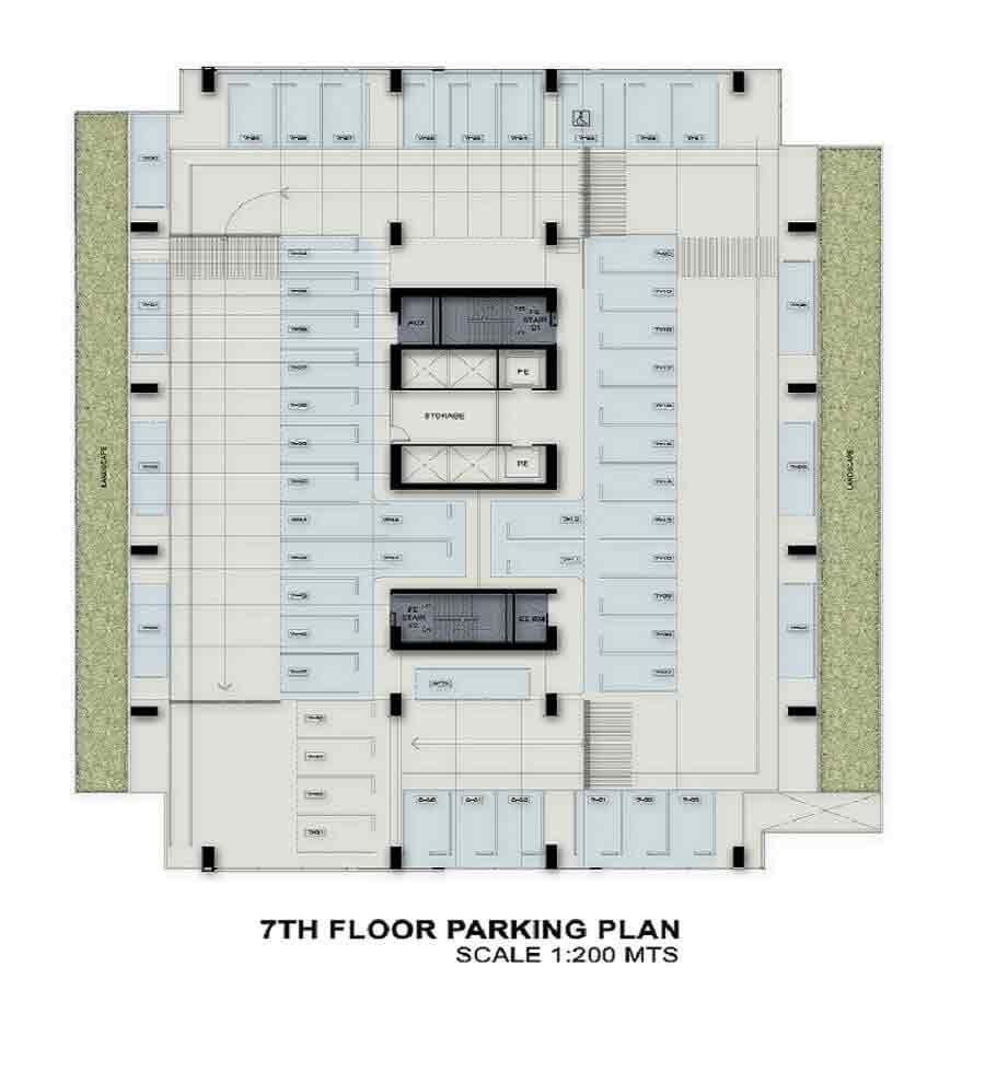 7th Floor Parking Plan