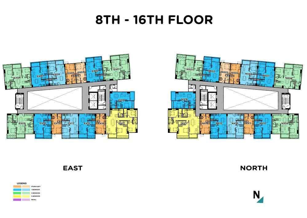 8th - 16th Floor