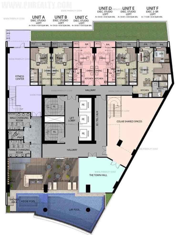 8th Floor Amenity Deck Plan