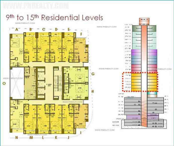 9th to 15th Residential Levels