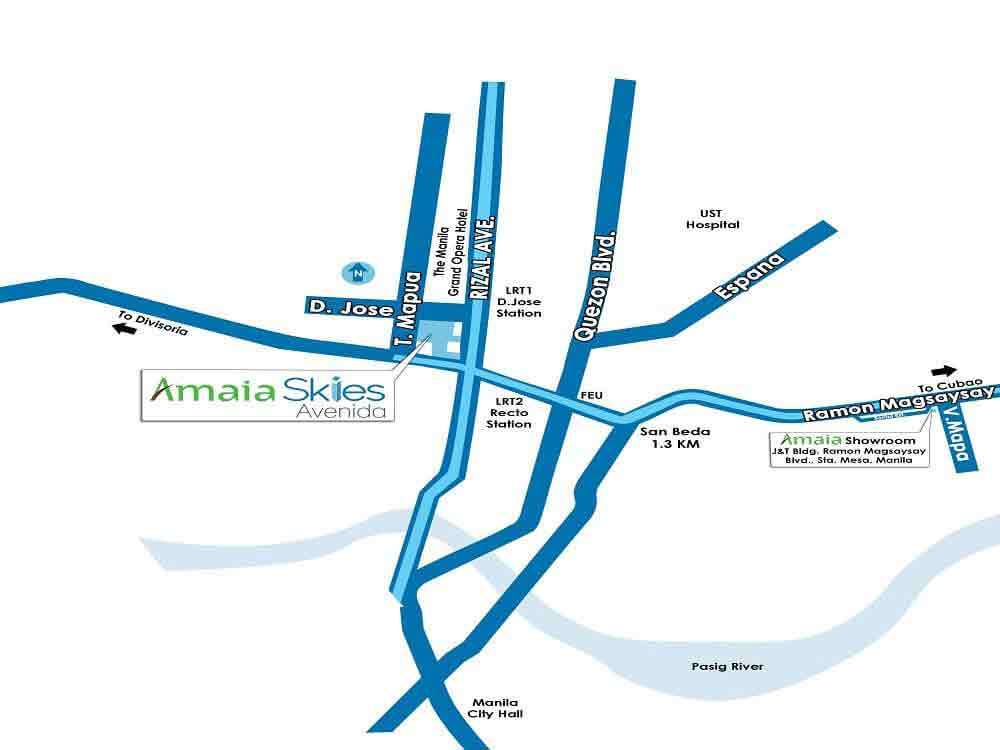 Amaia Skies Avenida Location
