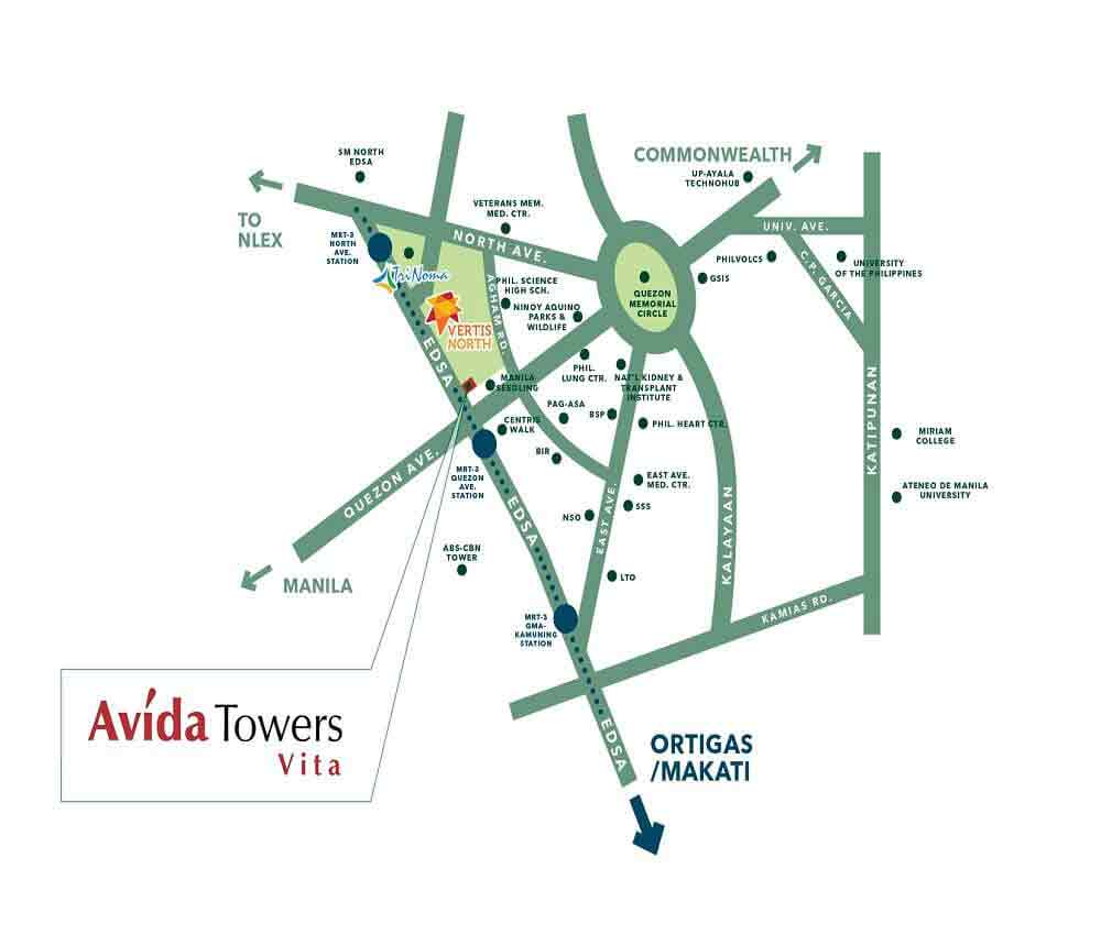 Avida Towers Vita Location