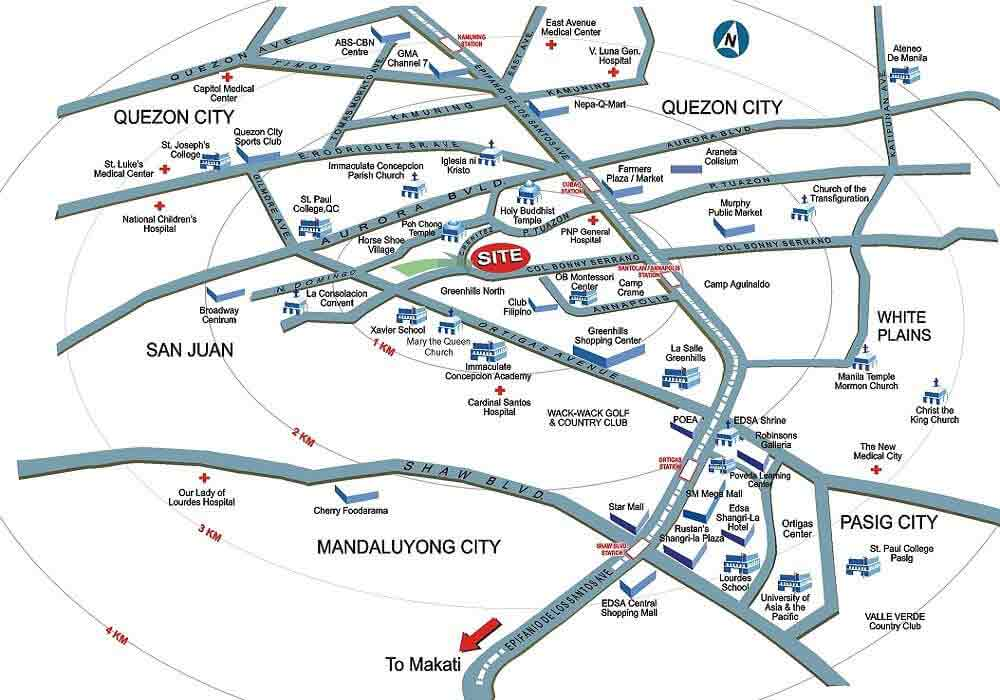 Avida Towers New Manila Location