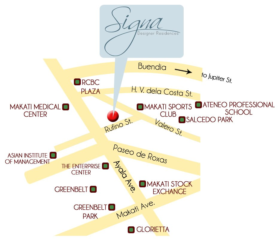 Signa Designer Residences Location
