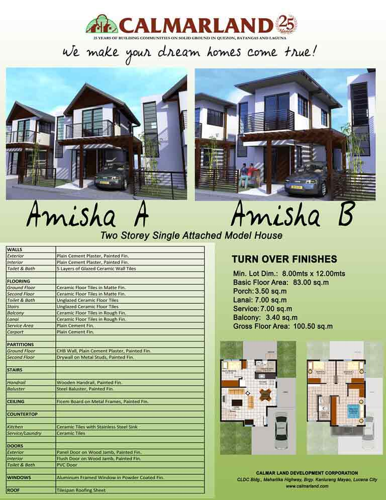 Amisha Two Storey Single Attached