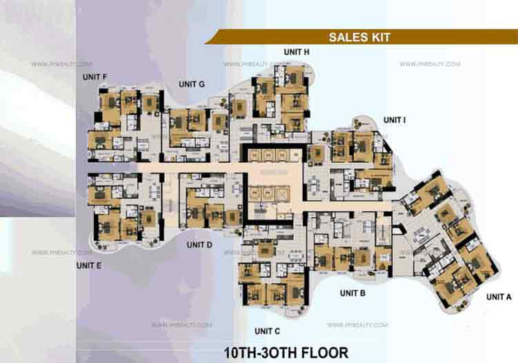 10th -30th Floor Plan