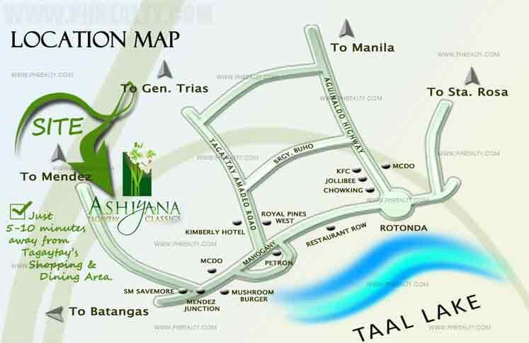 Ashiyana Tagaytay Classics Location