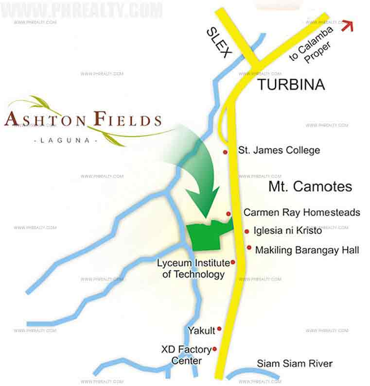 Ashton Fields Location