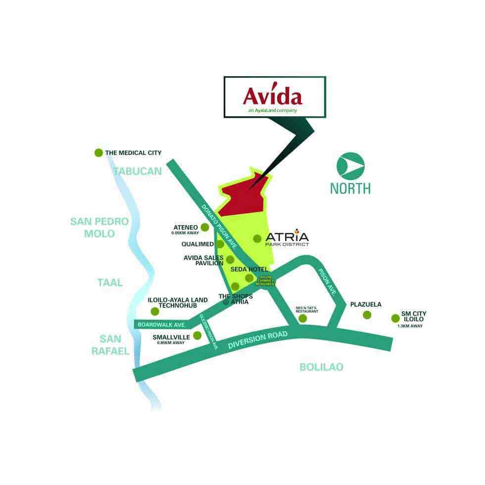 Avida Storeys Atria Location